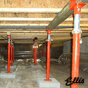 Ellis Manufacturing Co. Jack Post Supporting floor in crawlspace. STL-37