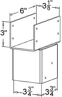 Ellis Manufacturing Co. Double Joist Holder JHD-4 diagram