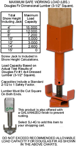 Screw Jack Load Chart, Jack Post, Jack Screw, Screw Jacks, Ellis 4x4 Screw Jack