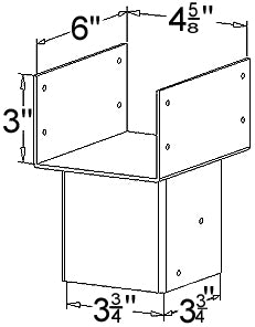 Ellis Manufacturing Co. Triple Joist Holder JHT-4, Diagram