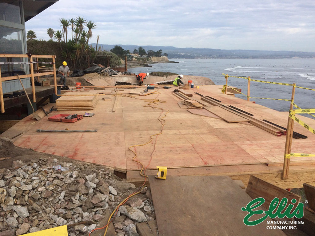Surface of Work and Access Platform for Cofferdam and Seawall Tieback - Ellis MFG