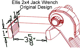 Ellis Manufacturing Co. H-2 Shore Jack Wrench Diagram