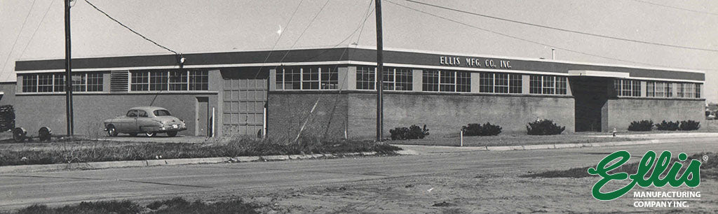 Ellis Manufacturing Co. original building after construction in 1956