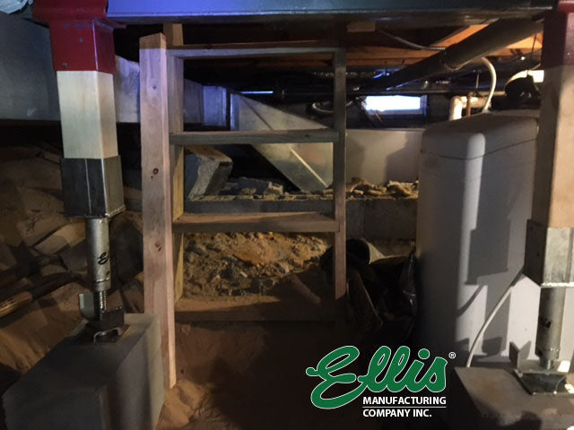 Ellis Floor level jack screws in crawlspace