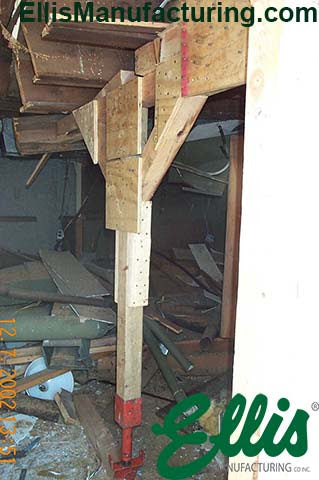 Structural Collapse Shoring With Wood Post Jack