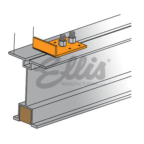 Angle Plate for Purlin Splicer Aluminum Beam - Ellis Manufacturing Co.