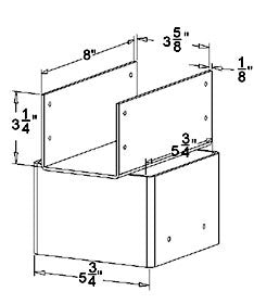 Beam Holder Drawing - Ellis Manufacturing BH-6