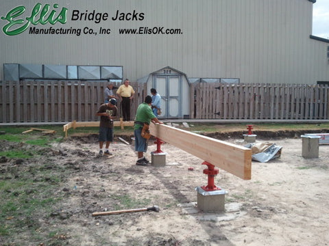 Heavy Duty Support Jack, Beam Support, foundation support - Ellis Manufacturing Co. - BJ-6