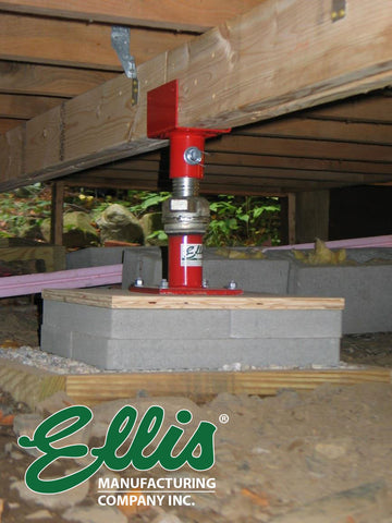 Floor Joist Support For Old Cabin Ellis MFG Steel Shore