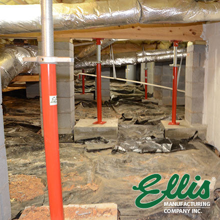 Crawl Space Beam Supports, Sagging Floors | Ellis Manufacturing Co.