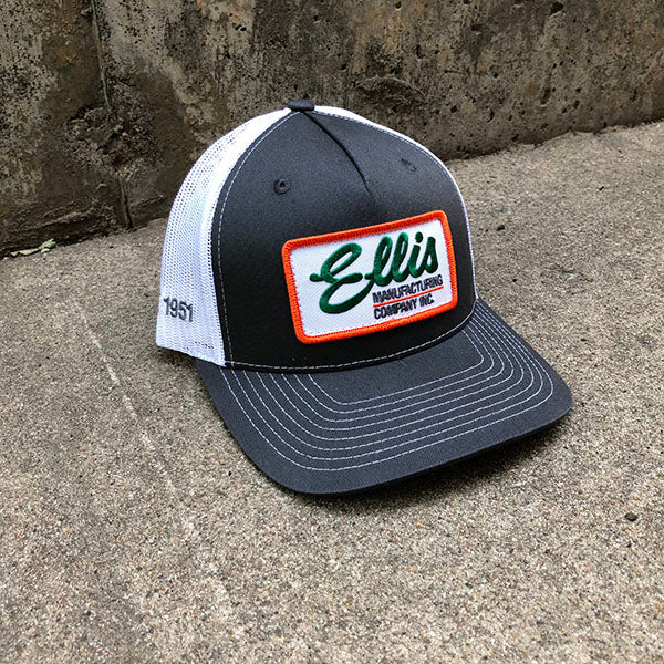 Ellis MFG Hat - Charcoal and White