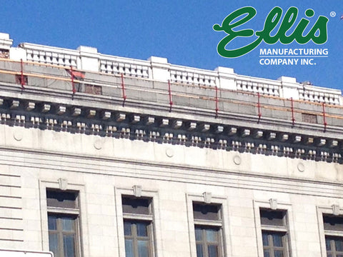 Roof Fall Protection - Temporary Parapet Wall Guardrails - Ellis MFG #2