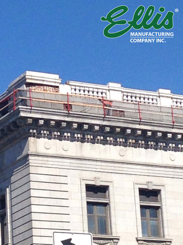 Roof Fall Protection - Parapet Wall Guardrails - Ellis MFG