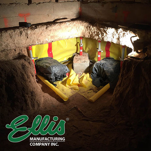 Light Duty Steel Shores Support Concrete Foundation Under Repair | Ellis Manufacturing Co.