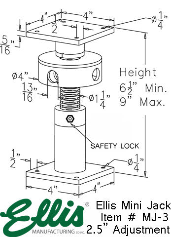 Mini Screw Jack, house leveling jack post, deck lifing jack