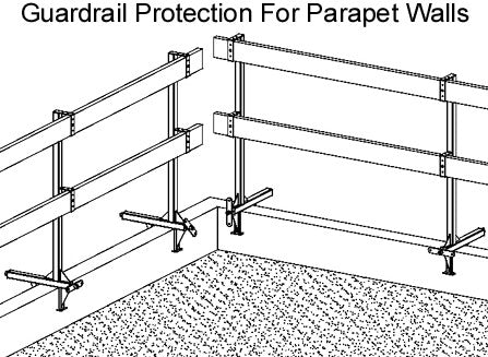 Ellis Manufacturing Co. Parapet Guardrail GRS-P12