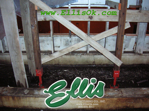 Ellis Manufacturing Screw Jacks sagging floors