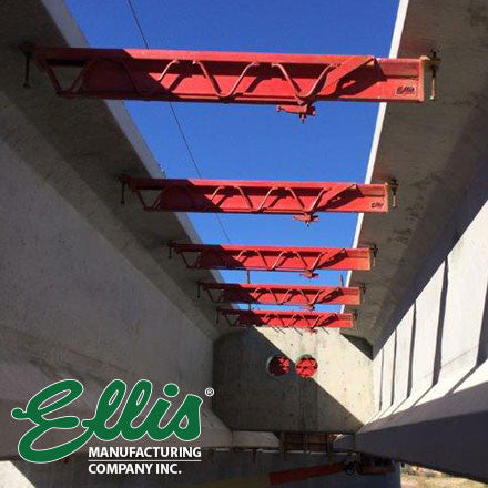 Adjustable Beam on bridge close up - Ellis Manufacturing Co.
