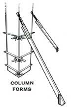Wall Brace securing column forms - Ellis Manufacturing Co.