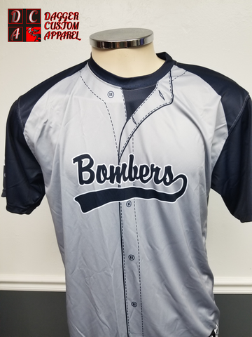 GULF COAST BOMBERS CUSTOM PRACTICE JERSEY/ FAN GEAR DYE SUBLIMATED PRINTING
