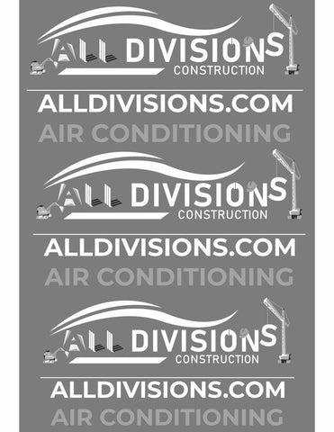 "All Divisions Construction grey scale 13""x 19"" gang sheet"
