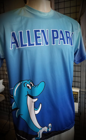 Allen Park Elementary dye sub full bleed print by Dagger Custom Apparel
