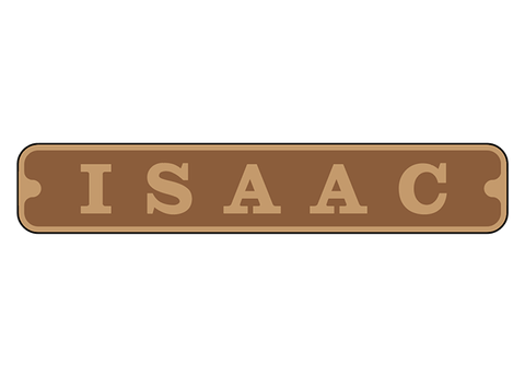 Customised Isaac nameplates
