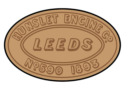 Hunslet works plates (early style)