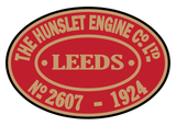 Hunslet works plates (late style)