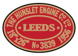 Hunslet works plates (later style)