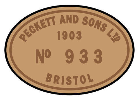 Peckett works plates (early style)