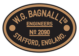 Bagnall works plates (smaller style)