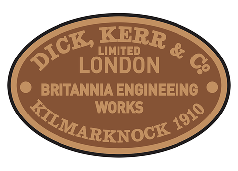 Dick, Kerr works plates