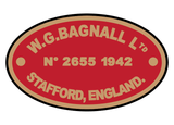 Bagnall works plates (later style)