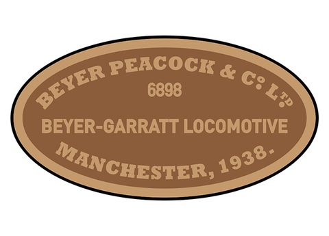 Beyer-Peacock works plates (later Garratt)