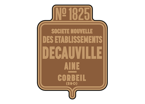 Decauville works plates (shield style)