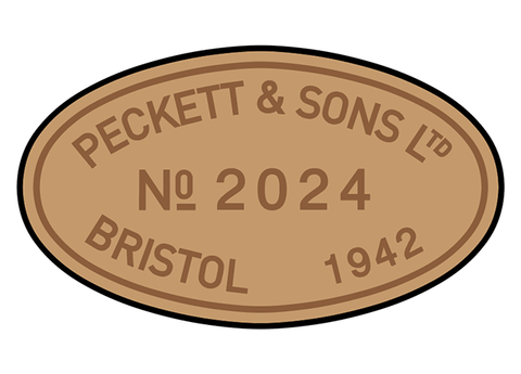 Peckett works plates (later style)