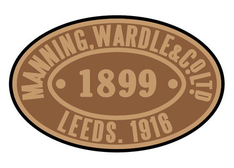 Manning-Wardle works plates (later style)