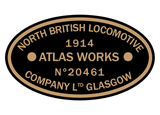 North British works plates (Sharp, Stewart style)
