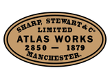 Sharp, Stewart works plates (early style)