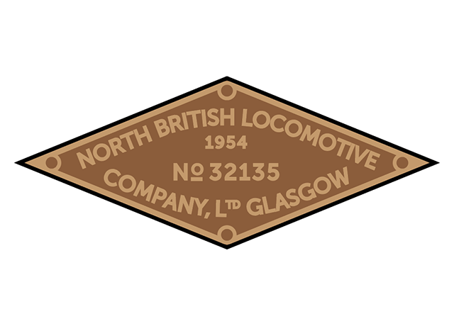 North British works plates (simplified style)