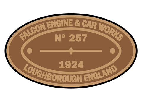 Falcon Engine & Car Works works plates