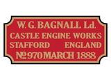 Bagnall works plates (very early style)