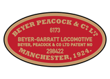 Beyer-Peacock works plates (complex Garratt)