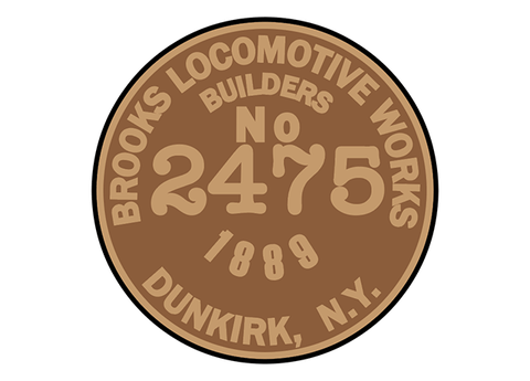 Brooks Locomotive Works works plates
