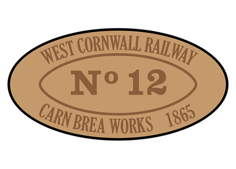 West Cornwall Railway works plates