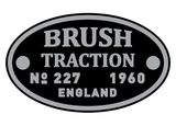 Brush Traction works plates