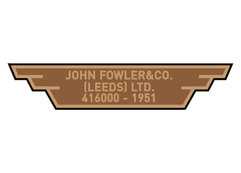 Fowler works plates (later)