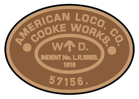American Loco. Co. WDLR works plates