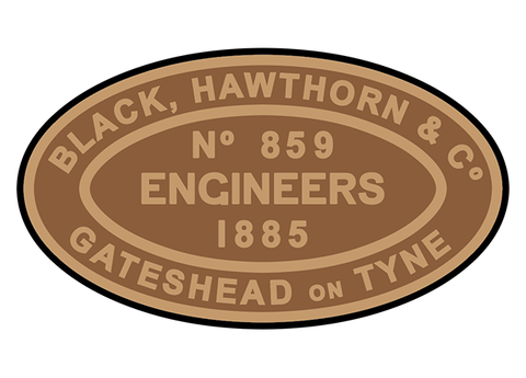 Black, Hawthorn works plates